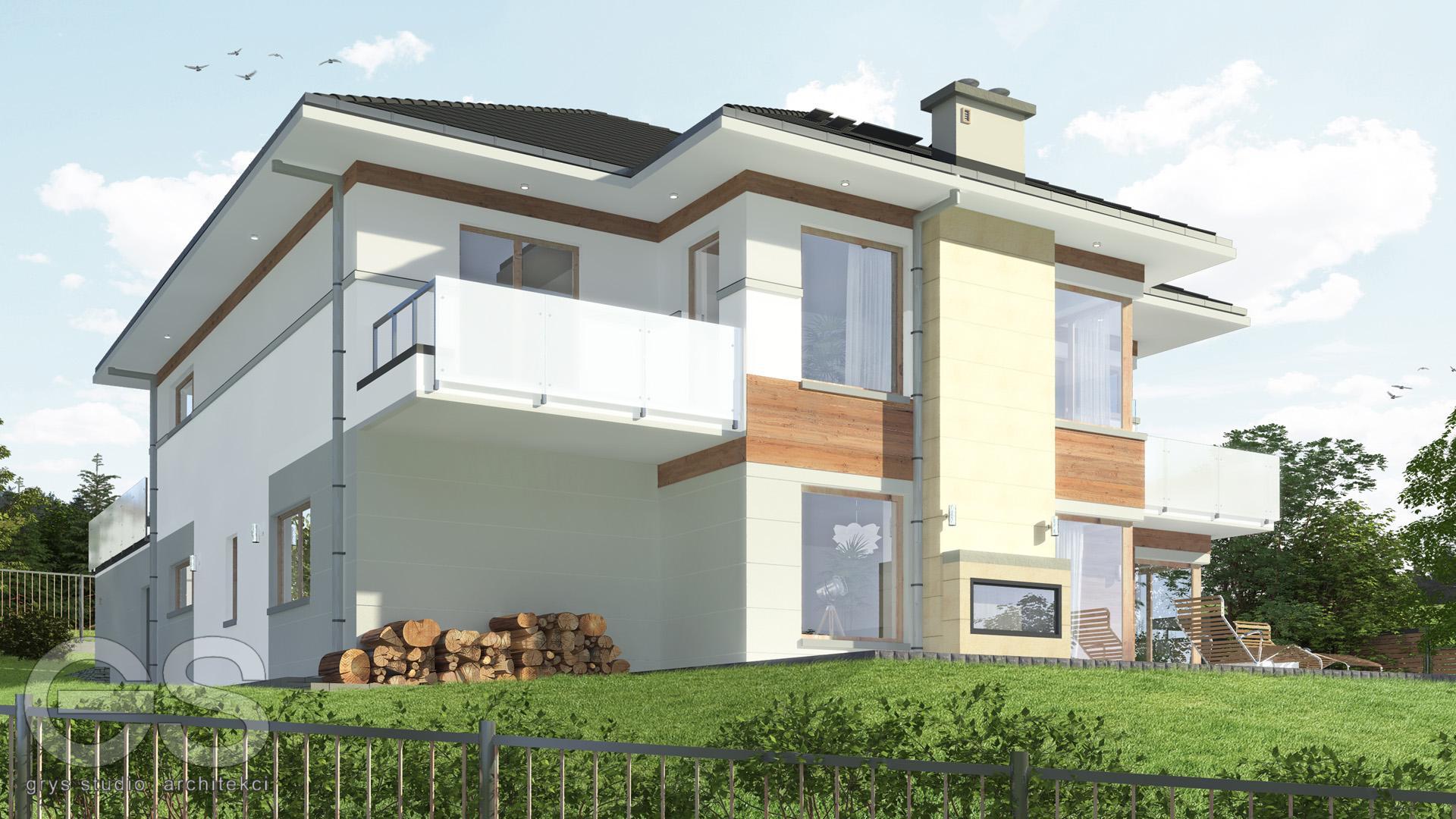 domek jednorodzinny wraz z wbudowanym garażem Bielsko-Biała projekt budowalny projekt wykonawczy