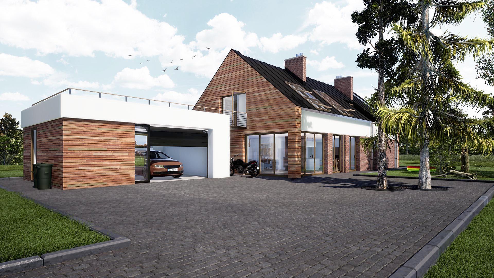 projekt typowego domu jednorodzinnego