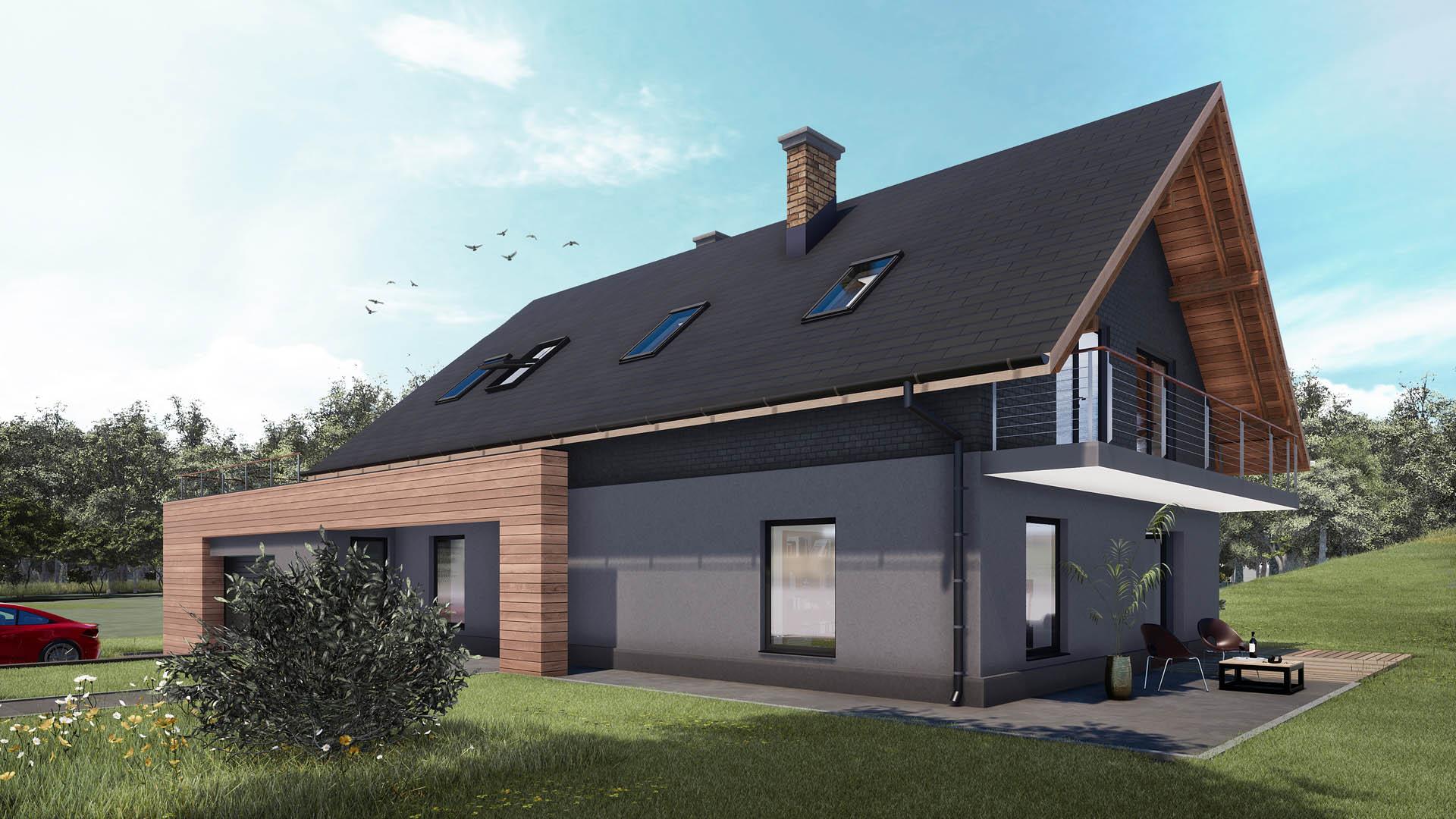 projekt dom jednorodzinny grodziec