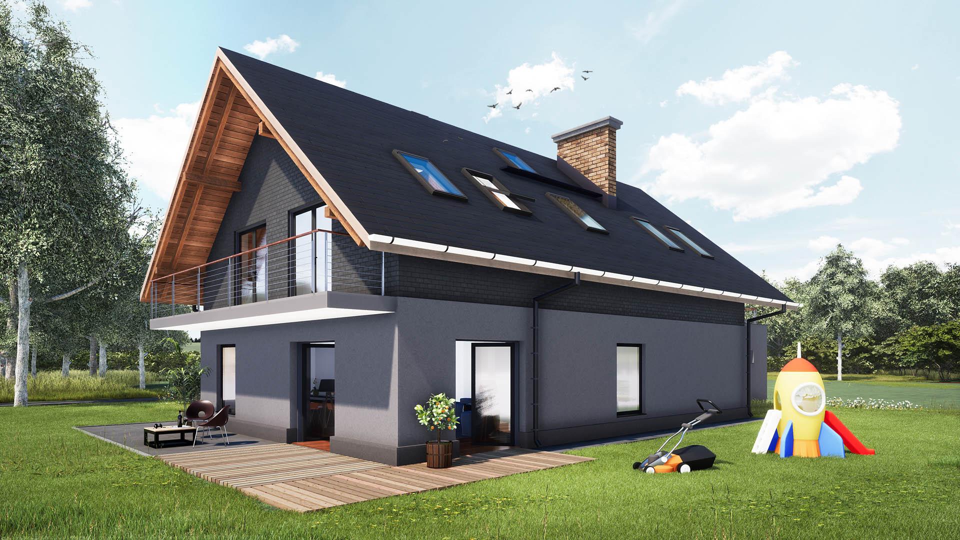 projekt budowlany dom jednorodzinny Grodziec