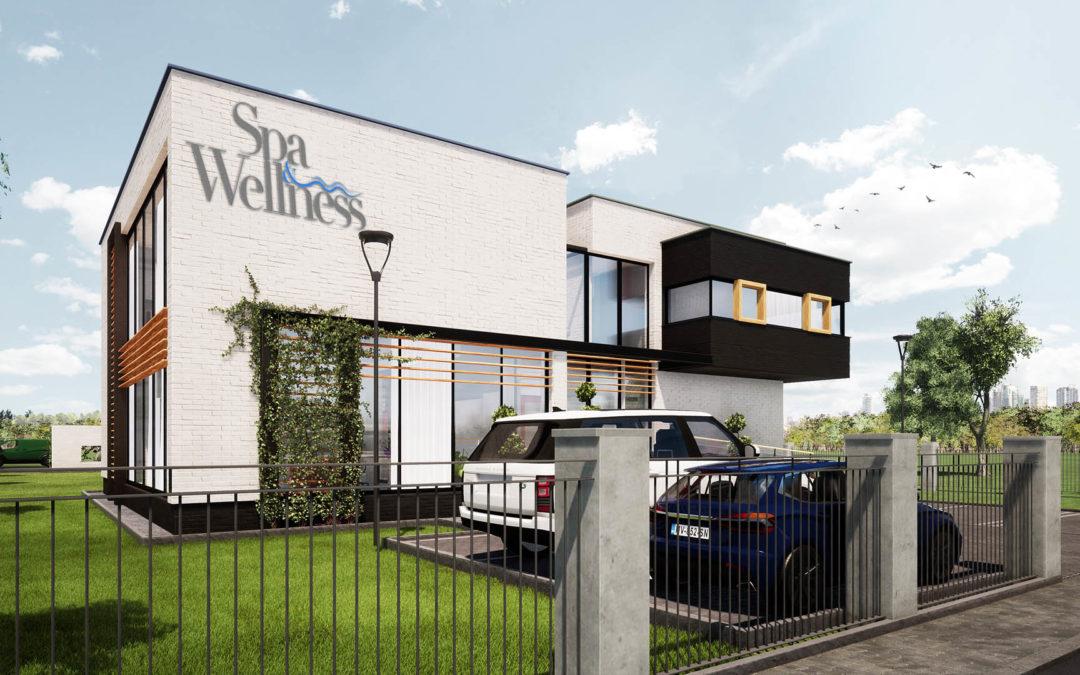 """Budynek usługowy """"spa & wellenss"""""""