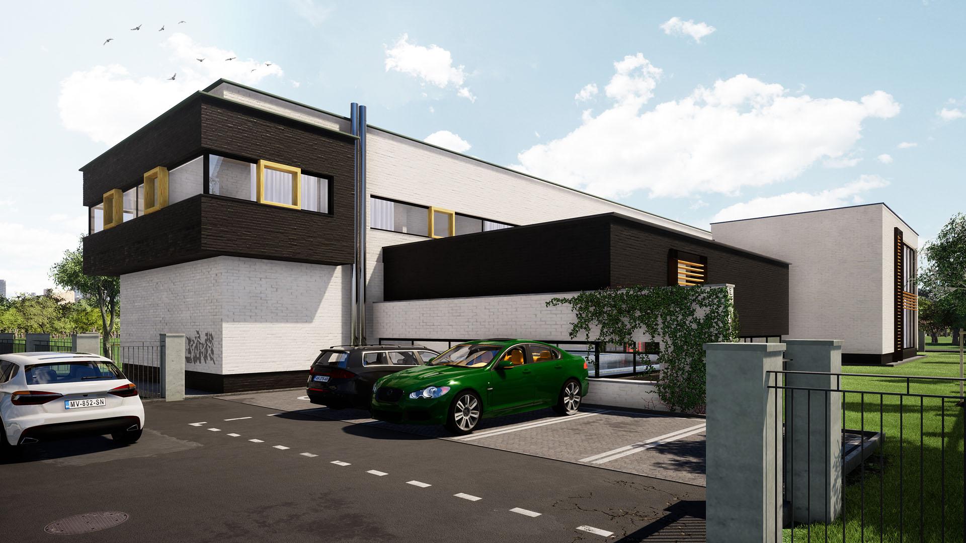 spa wellness budynek usługowy katowice projekt budynku usługowego
