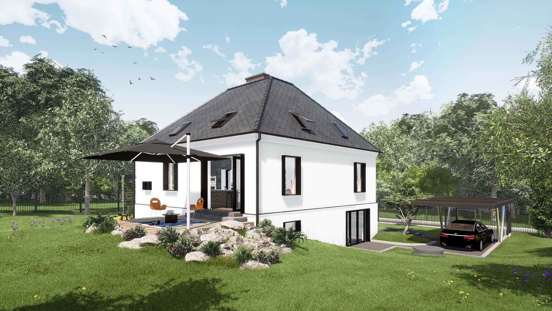 przebudowa remont remodeling domu jednorodzinnego w bielsku białej, projekt budowalny, projekt wykonawczy 2