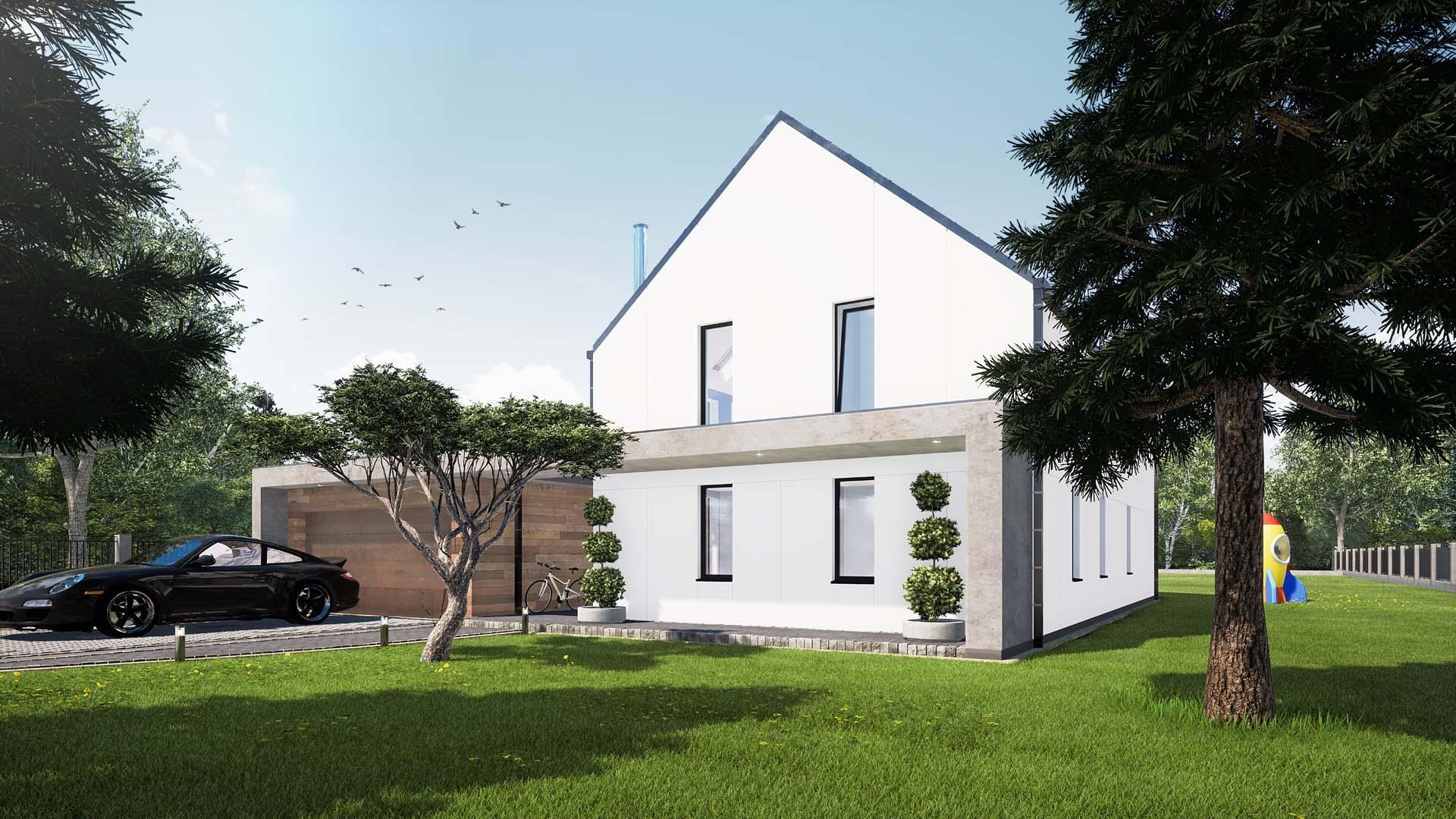 projekt budowlany domu jednrodzinnego strzemieszyce wielkie śląsk dom modułowy