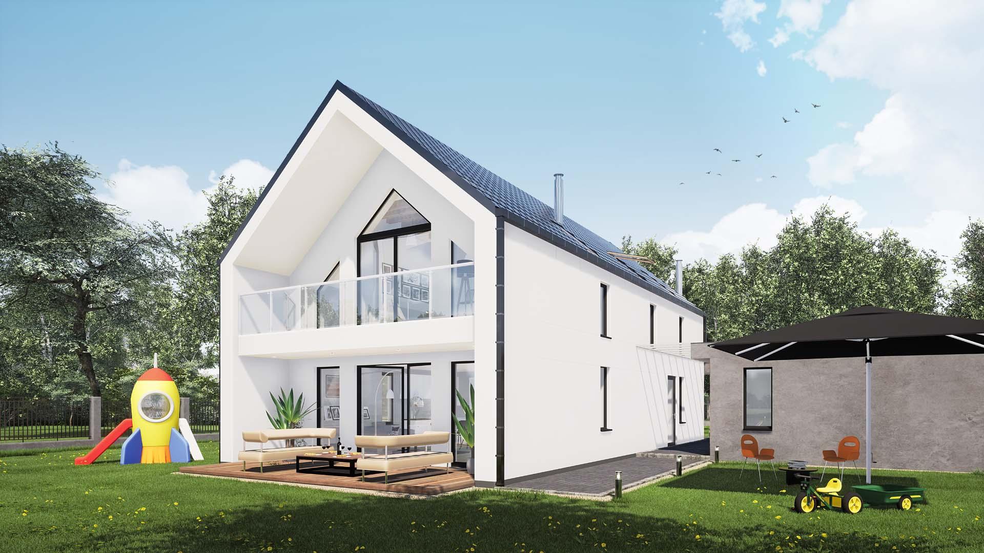 projekt budowlany domu jednrodzinnego strzemieszyce wielkie k. katowic dom modułowy