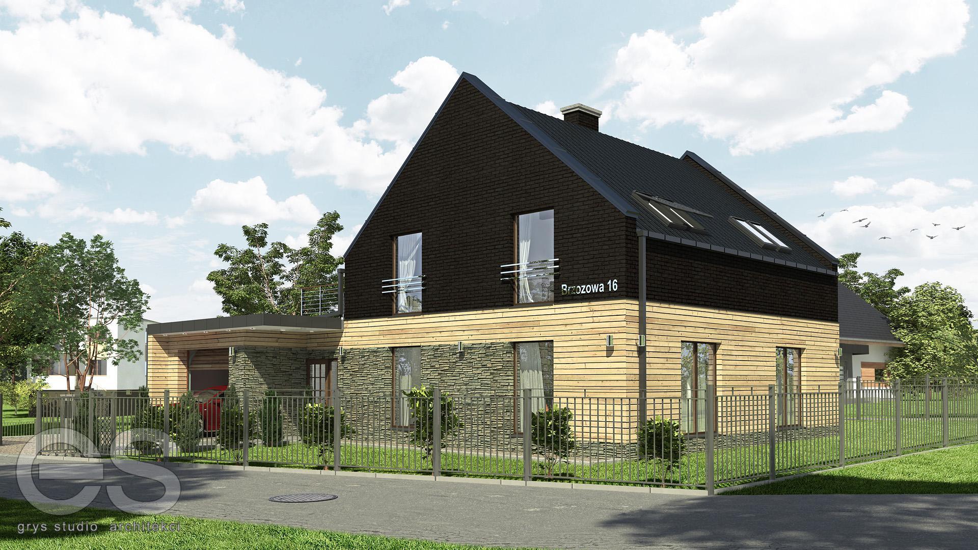 przebudowa i rozbudowa domu jednorodzinnego stary sącz lipie projekt budowlany