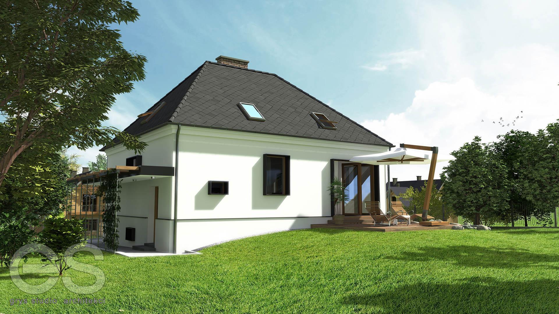 przebudowa remont remodeling domu jednorodzinnego w bielsku białej, projekt budowalny, projekt wykonawczy 3