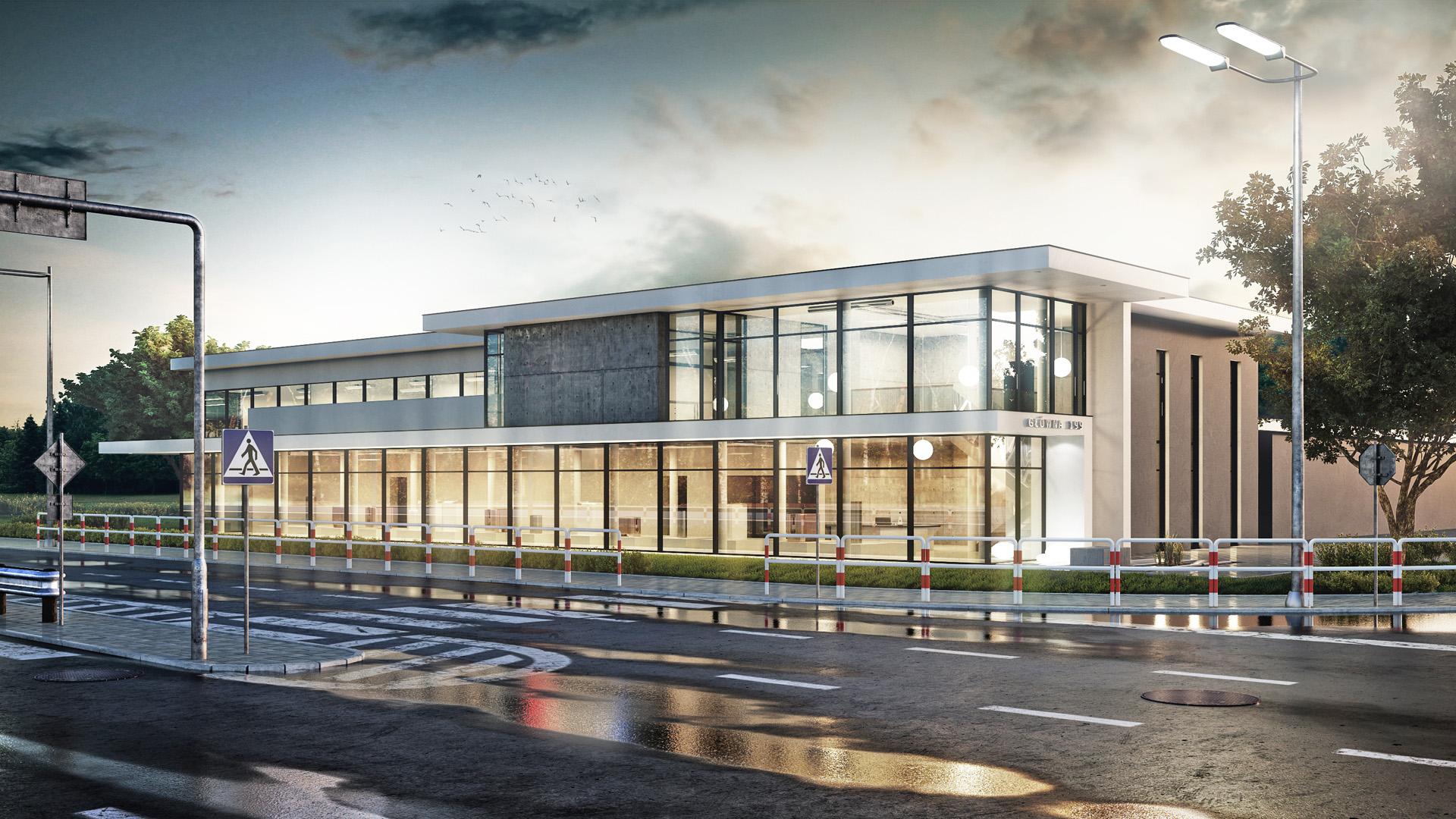 Projekt koncepcyjny - funkcjonalno - przestrzenny budynku us³ugowo - handlowego, siedziby firmy ZITERM