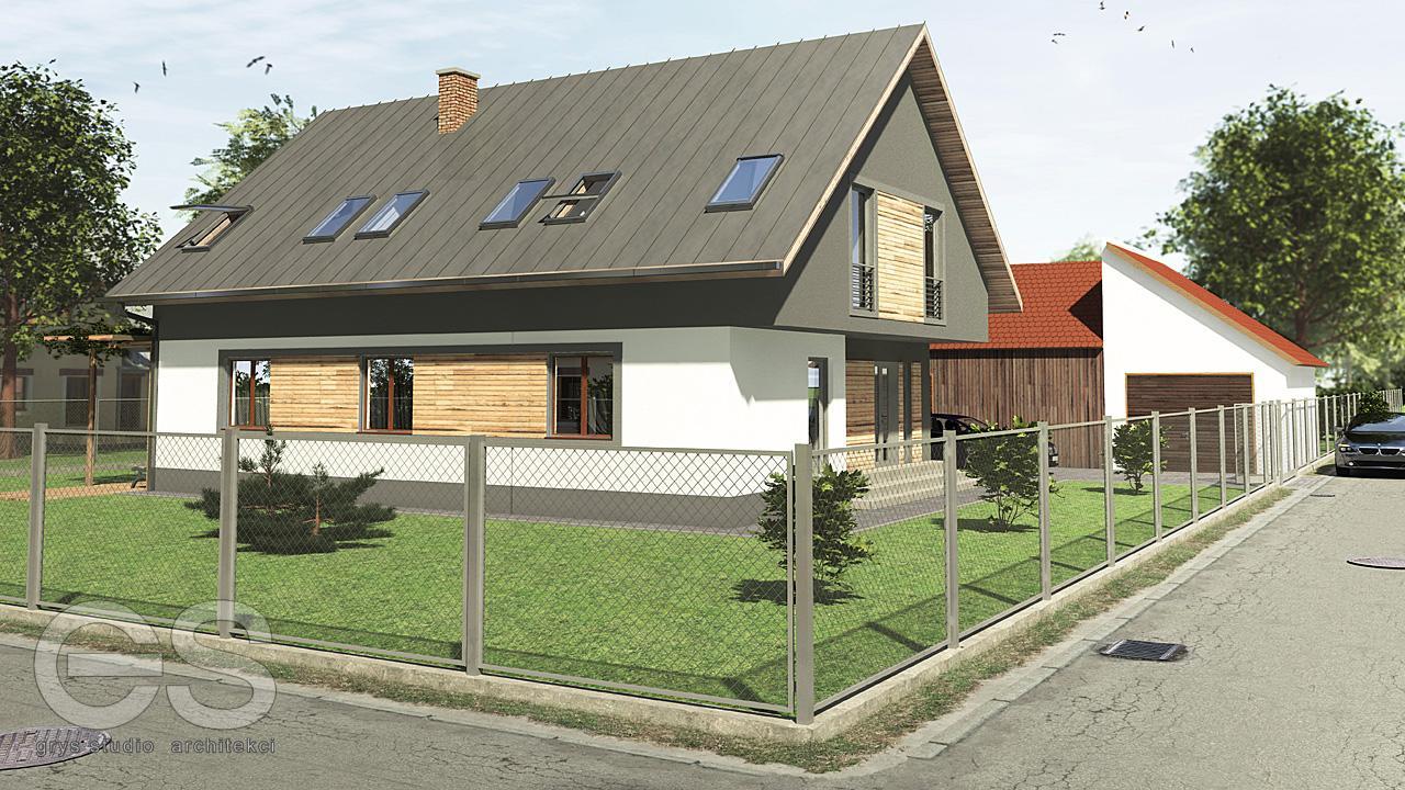 dom jednorodzinny moszczenica projekt przebudowy 1