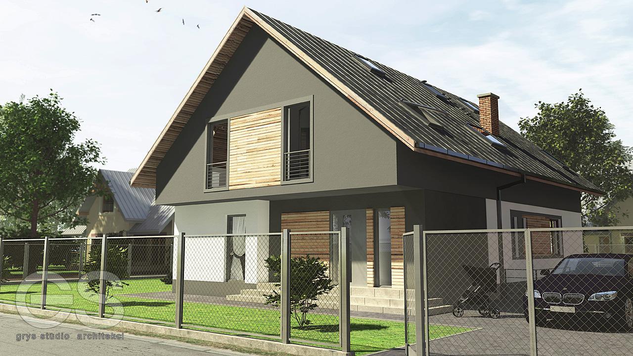 dom jednorodzinny moszczenica projekt przebudowy 3