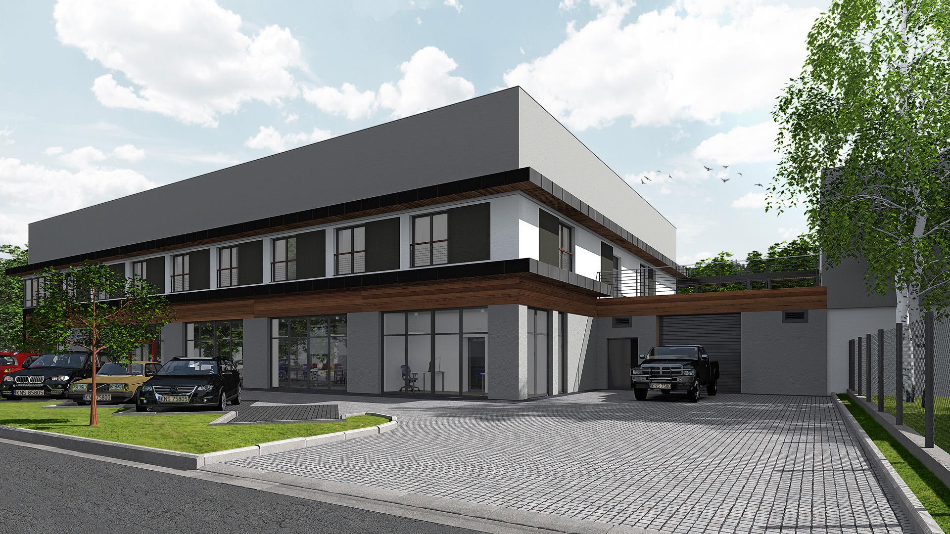 Ziterm Skoczów przebudowa budynku handlowo usługowego z częścią mieszkalną