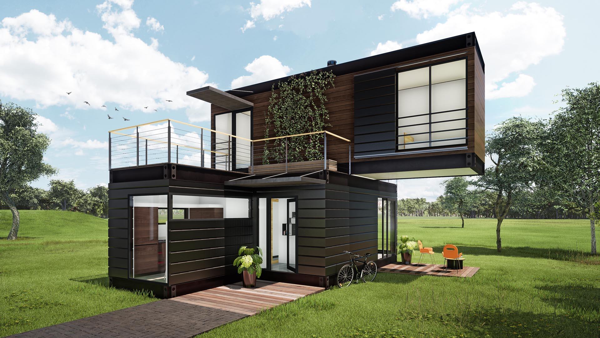 dom modułowy kontenerowy