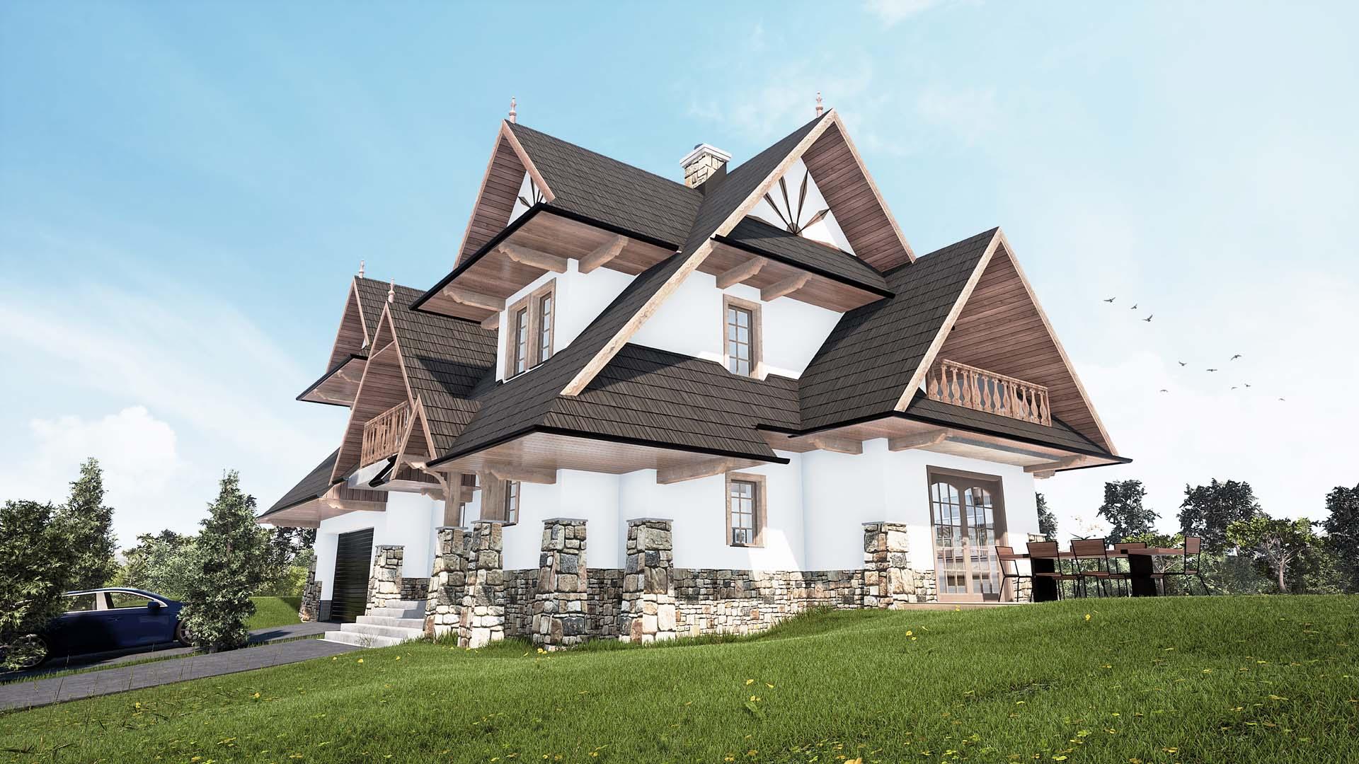 Dom jednorodzinny Leśnica Bukowina Tatrzańska 02
