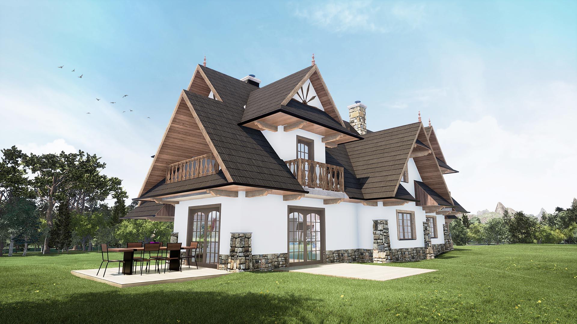 Dom jednorodzinny Leśnica Bukowina Tatrzańska 03