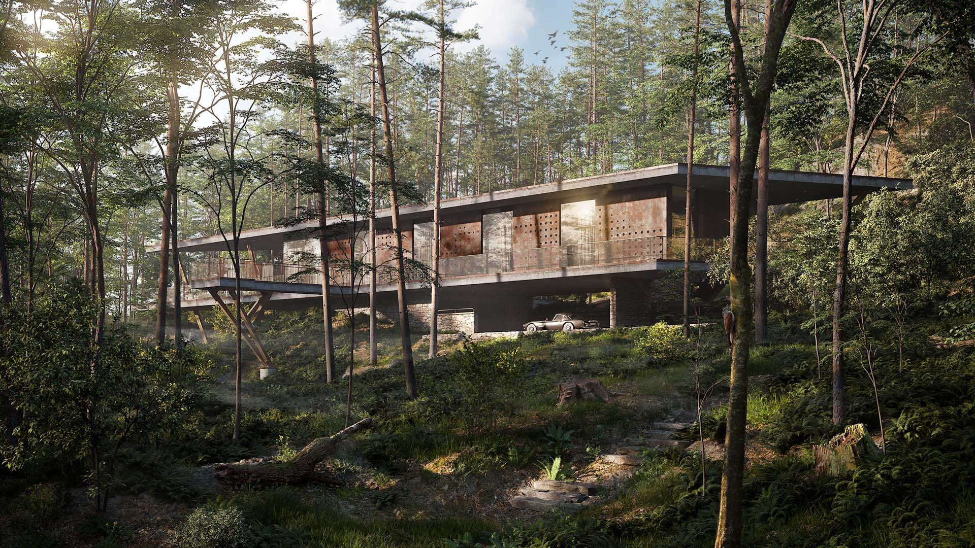 arc house dom w lesie