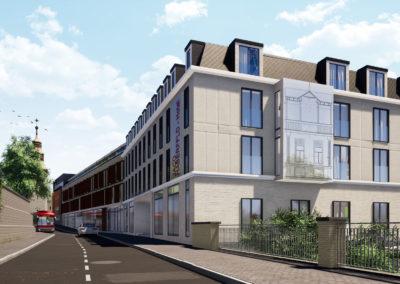 Budynek handlowo-usługowy oraz funkcją hotelu – Oświęcim